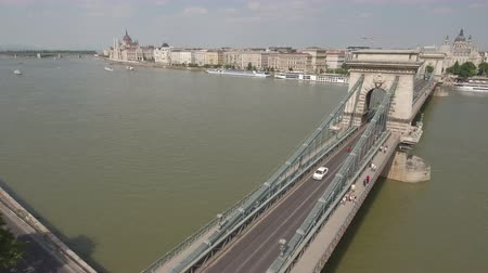 süspansiyon : Aerial view of Budapest - Chain bridge, Hungary