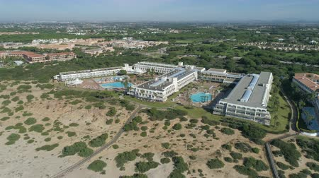 Aerial shot of mediterranean beach resort in Spain