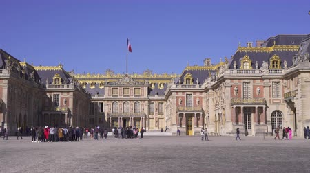 Versailles palace front side. Head main entrance - September 2018: Versailles, France
