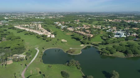 フェアウェイ : Aerial view of golf course. Mediterranean golf course in Spain