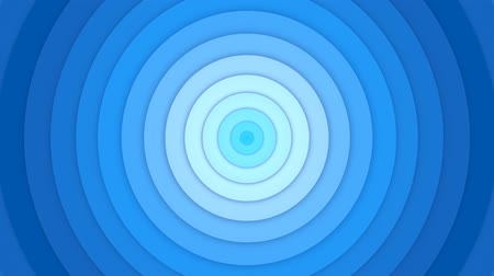alargamento : Expansion of spherical rings of blue from blue to dark blue. Abstract animation. Stock Footage