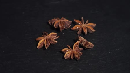 seasonings : anise and cinnamon. badian. ingredients for warm wine, mulled wine. circular video. Slow-mo