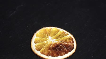 lobe : Orange. ingredients for warm wine, mulled wine. circular video. Slow-mo Stock Footage