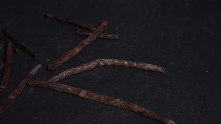 lobe : Vanilla pod. ingredients for warm wine, mulled wine. circular video. Slow-mo