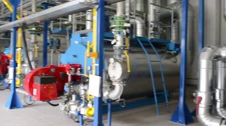 лечение : Big biogas generators in water treatment facilities plant. Gas process from sludge.
