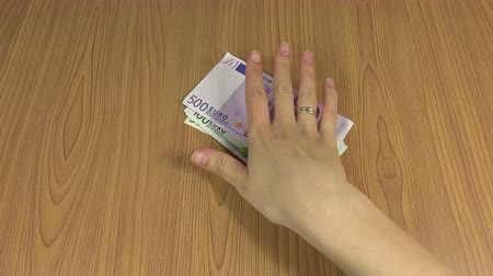 venality : euro cash payment for services. 4K Stock Footage