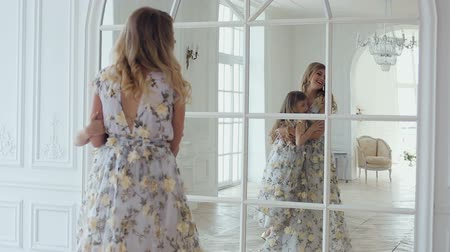 same : mom turns daughters house around a large mirror