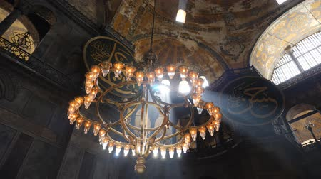 Turkey, Istanbul - 5 June 2019: interior design the interior of the old mosque of Hagia Sophia on June 5, 2019
