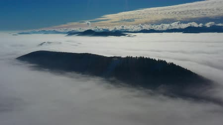 lucfenyő : Aerial view of low clouds seen from above