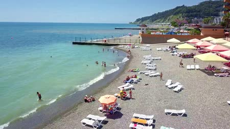 sochi : The coast and beaches of the Black sea in summer