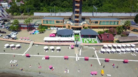 settlement : Dagomys, Sochi Black sea, top view Stock Footage