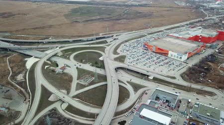 csomópont : top view of road junction, Megamag Rostov-na-Donu