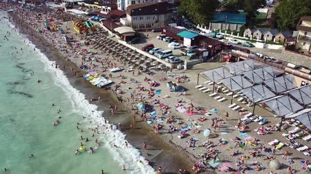 sochi : a lot of tourists. Novomihailovskiy, Black sea
