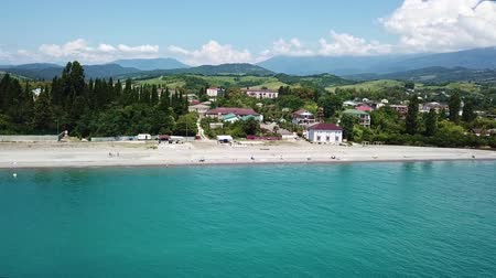 sochi : beach July 2017 near border of Abkhazia and Russia