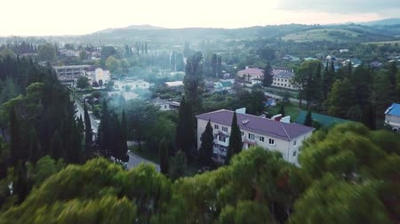 sochi : near the border of Abkhazia and Russia in July 2017 Stock Footage