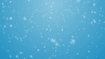 Snowing animation Blue background