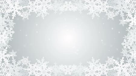 hópehely : Frozen Snowflake frame animation-silver