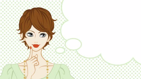mluvení : Good Inspiration-short Hair women talking, speech bubble