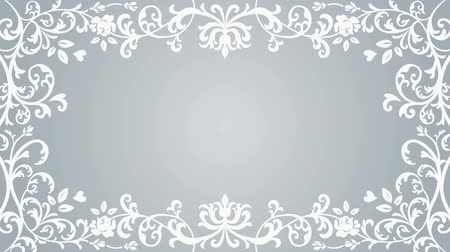 cártula : Growing floral frame-Silver color Vídeos