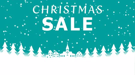 zimní : Christmas Snowing town Motion background-Christmas Sale