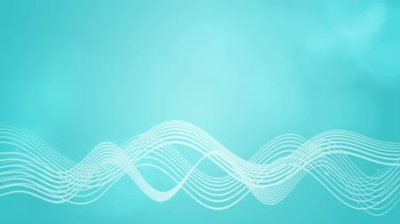 Seamless loop file, Flowing wavy lines motion background-Aqua blue