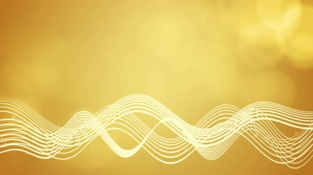 Seamless loop file, Flowing wavy lines motion background-Golden color
