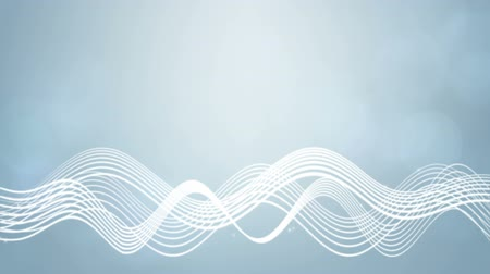 Seamless loop file, Flowing wavy lines motion background-Silver color Wideo