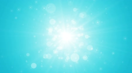 Seamless loop file, Spreading circular particle and Lens Flare animation-Aqua Blue