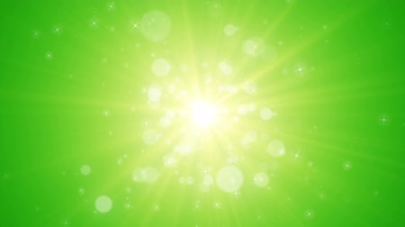 Seamless loop file, Spreading circular particle and Lens Flare animation-Green Color