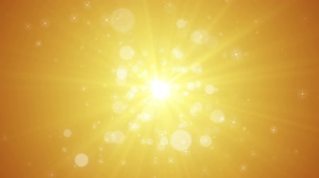 Seamless loop file, Spreading circular particle and Lens Flare animation-Golden Color