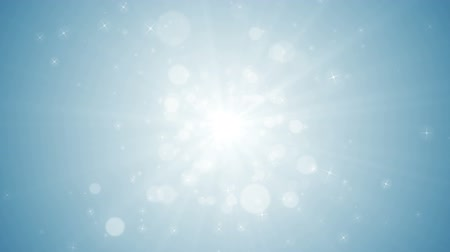 Seamless loop file, Spreading circular particle and Lens Flare animation-Silver Color