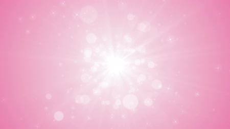 Seamless loop file, Spreading circular particle and Lens Flare animation-Pink Color