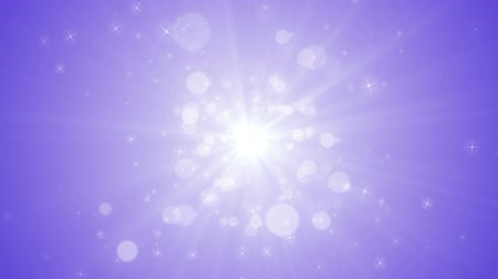 Seamless loop file, Spreading circular particle and Lens Flare animation-Purple Color Wideo