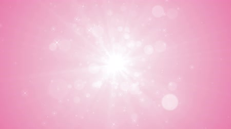 боке : Spreading circular particle and Lens Flare animation-Pink Color