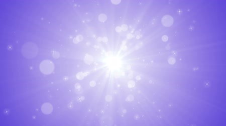 Spreading circular particle and Lens Flare animation-Purple Color