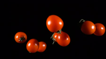 tomates cereja : Falling tomatoes cherry, slow motion Vídeos