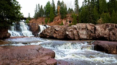 Gooseberry Falls State Park in Minnesota late autumn on the North Shore of Lake Superior.