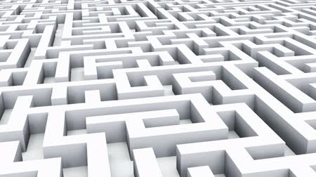 esquema : Success, marketing, strategy and motivation concept: flight over endless white labyrinth