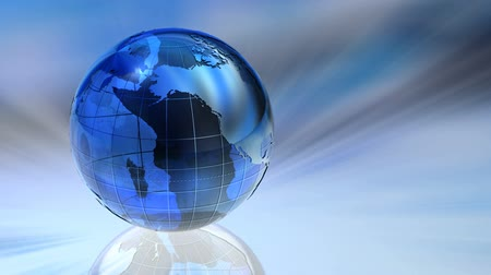 global : Rotating glass Earth globe