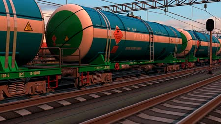 oliwa : Freight train with tank cars. Design is my own and all text labels and numbers are fully abstract Wideo
