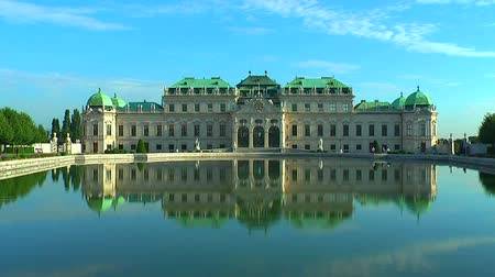historical building : Belvedere Palace in Vienna, Austria