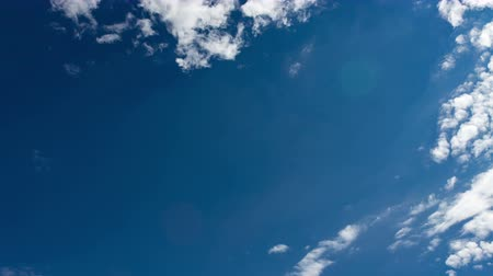 clouds in the blue sky. Time Lapse