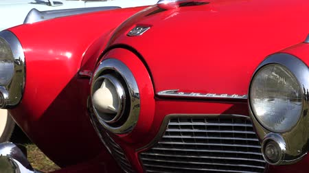 coletor : Old restored cars, Old timer vintage car Stock Footage