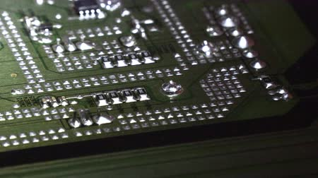 integrovaný : Electronic board Abstract circuit board background. Dostupné videozáznamy