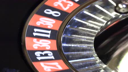tekerlekler : Ball in the casino roulette,image with a casino roulette Stok Video