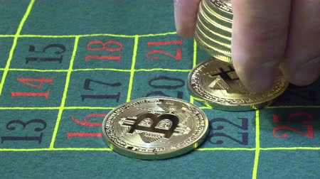 ruleta : bitcoin betting in casino roulette table in the casino