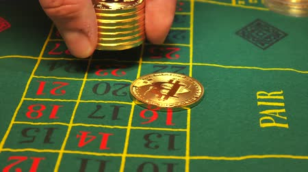 ruletka : Bitcoin casino betting,View from above on bicoin on roulette