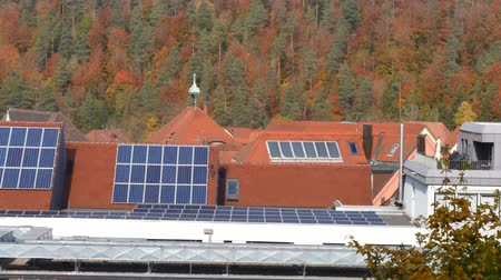 coletor : Solar panels on rooftops, germany