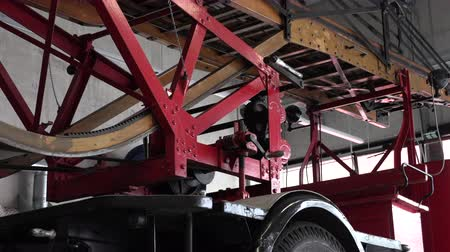 model s : 1930 fire truck with a wooden ladder