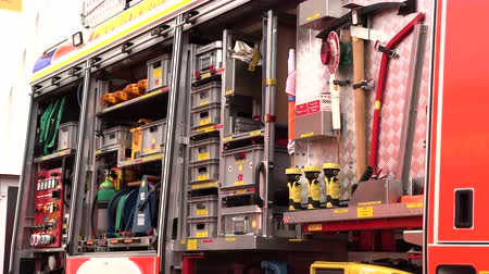 lupa : set of tools in the fire truck